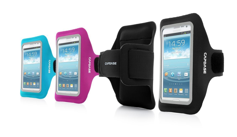 Zorgeloos sporten met een smartphone hardloopband