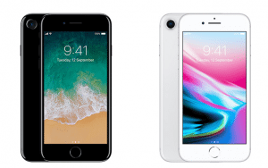 iPhone 8 en iPhone 7