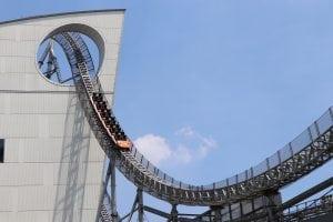 Pretpark achtbaan Virtual reality