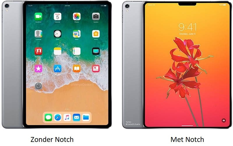 iPad Pro met Face ID Mock-up